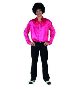 Roze Ruche Hemd Man