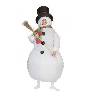 Opblaasbaar Sneeuwpop Pak