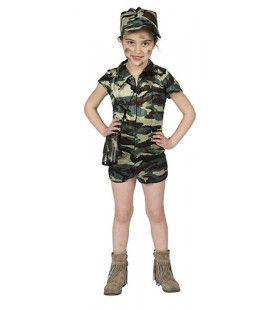 Schattige Maar Ongenadige Commando Meisje Kostuum