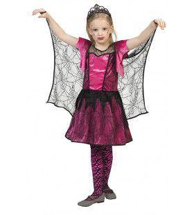 Spookachtige Spinnenweb Prinses Meisje Kostuum