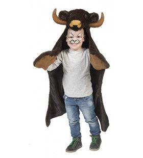 Briesende Bison Cape Jongen Kostuum