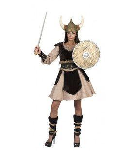 Viking Zonder Vrees Dagmar Leifdottir Vrouw Kostuum