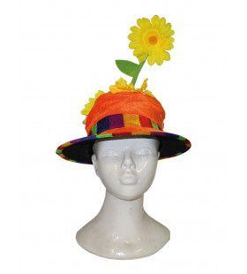 Happy Hippie Bloemen Hoed