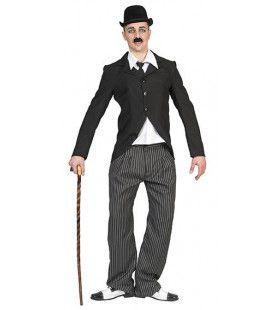 Komiek Van Het Witte Doek Charlie Chaplin Man Kostuum