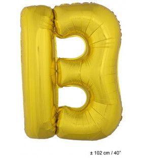 Letterballon B Goud