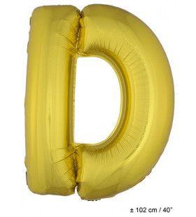 Ballon Letter D Goud