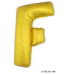 Ballon Letter F Goud