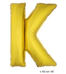 Letterballon K Goud