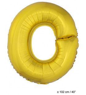 Ballon Letter O Goud
