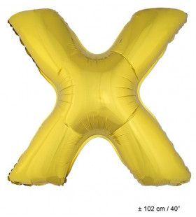 Letterballon X Goud