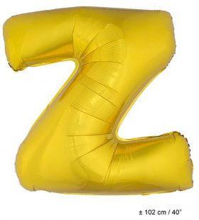 Letterballon Z Goud