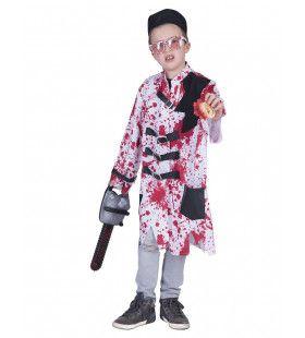 Bloederige Dwangbuis Patient Kind Kostuum