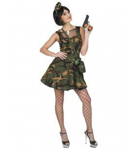 Op Slag Gewonnen Leger Militair Vrouw Kostuum