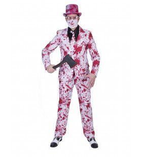 Bloederige Massamoordenaar Halloween Man Kostuum
