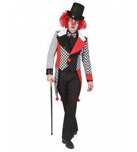 Dambord Met Stippels Circus Clown Slipjas Man