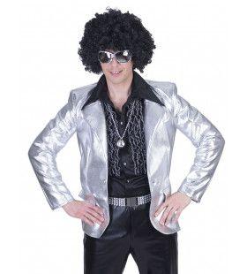 Glanzend Zilver Disco Godheid Colbert Man