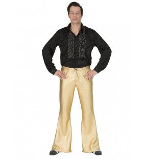 Glanzend Gouden Disco Godheid Broek Man