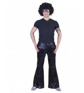 Glanzend Zwarte Disco Godheid Broek Man