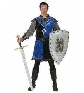 Onverschrokken Middeleeuwse Roofridder Man Kostuum