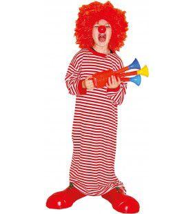 Lekker Lang Gestreept Shirt Clown Kostuum
