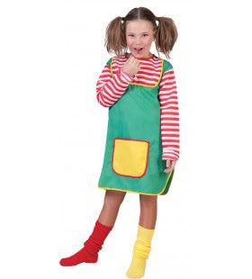 Vrolijke Sterke Pippi Langkous Meisje Kostuum