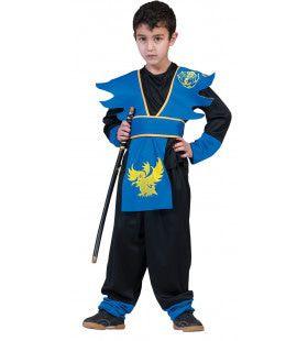 Dodelijk Dolle Japanse Ninja Jongen Kostuum