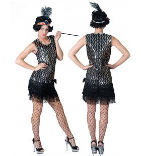 Chicago Charleston Club Vrouw Kostuum