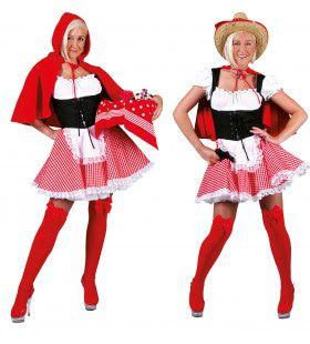 Rood Rodeo Kapje Vrouw Kostuum