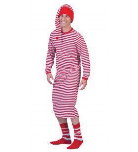 Lang Lang Streepjes Shirt Dorus Clown Kostuum