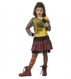 Punk Petra Meisje Kostuum