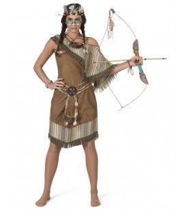 Squaw Wappo Indiaan Wilde Westen Amerika Vrouw Kostuum