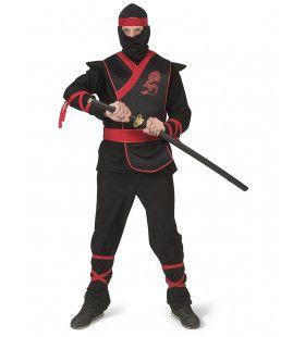 Ninja Strijder Vol Doodsverachting Man Kostuum