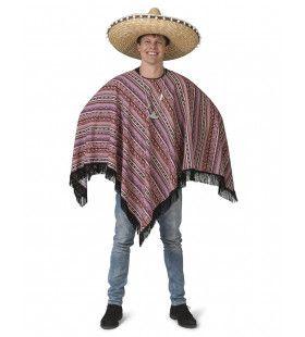 Poncho Raul Mexicaanse Mariachi Man Kostuum