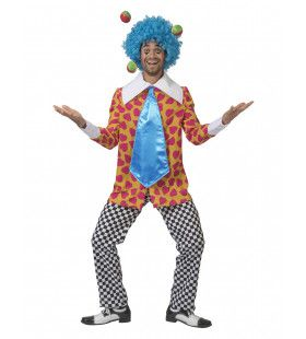 Clown Van De Liefde Hartjes Hemd Met Dol Brede Das Man Kostuum