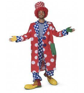 Jas Met Witte Bollen Clown Flappie Man