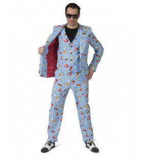 Zomers Komische Strip Man Kostuum