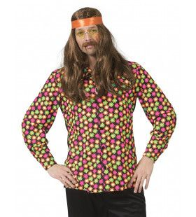 Fluor Flower Power Goes Disco Shirt Man