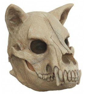 Schedel Masker Hongerige Halloween Hond