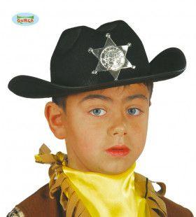 Handhaver Van De Wet Sheriff Wilde Westen Hoed