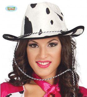 Koeienprint Cowgirl Hoed