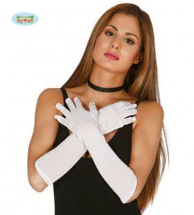 Maagdelijk Witte Lange Handschoenen 45 Centimeter