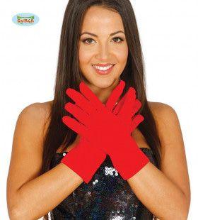 Opvallende Rode Handschoenen 25 Centimeter