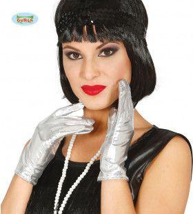 Zilveren Handjes Handschoenen 22 Centimeter