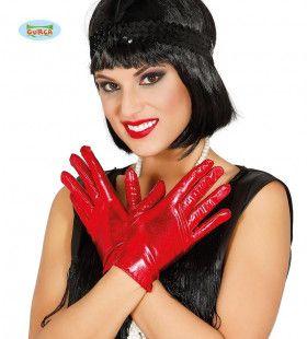 Rode Handjes Handschoenen 22 Centimeter