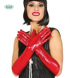 Lange Rode Handschoenen Vegas 44 Centimeter