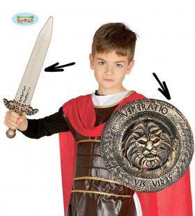 Krachtig Schild En Zwaard Romeinse Rijk