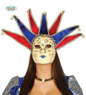 Venetiaans Masker Harlekijn Met Belletjes