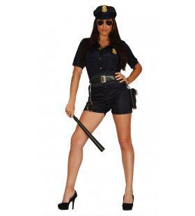 Uitdagende Politie Agente Vrouw Kostuum
