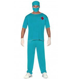 Chirurg Snijgraag Man Kostuum