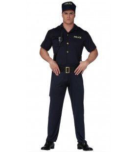 Handhaver Van De Wet Politie Man Kostuum